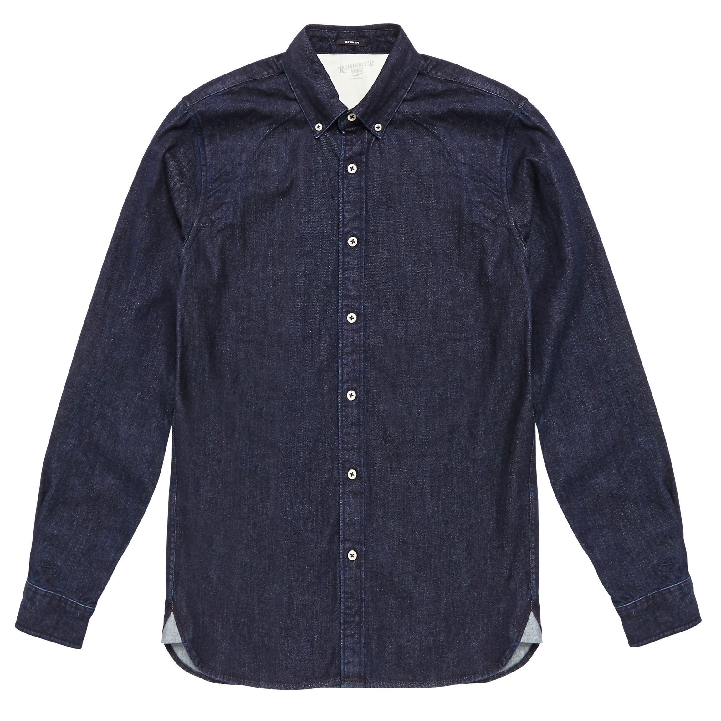 Denham Denham Rhys Denim Shirt, Dark Indigo