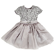 Buy Angel & Rocket Girls' Lace Bodice Dress, Grey Online at johnlewis.com