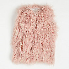 Buy Angel & Rocket Faux Fur Gilet, Pink Online at johnlewis.com