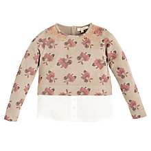 Buy Angel & Rocket Girls' Floral Print, Neutral Online at johnlewis.com