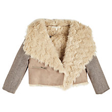 Buy Angel & Rocket Girls' Shearling Jacket, Tan Online at johnlewis.com