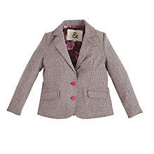 Buy Angel & Rocket Girls' Tweed Blazer, Brown Online at johnlewis.com