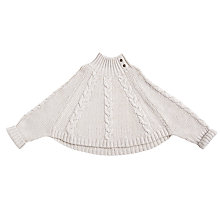 Buy Angel & Rocket Girls' Cable Poncho, Cream Online at johnlewis.com
