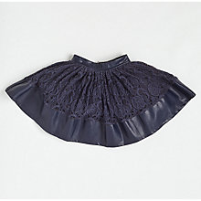 Buy Angel & Rocket Girls' Lace Skirt, Black Online at johnlewis.com