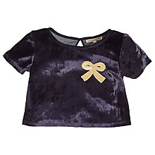Buy Angel & Rocket Velvet Bow Top, Grey Online at johnlewis.com