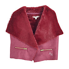 Buy Angel & Rocket Girls' Gilet, Plum Online at johnlewis.com