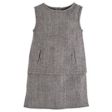Buy Angel & Rocket Girls' Tweed Pinafore Dress, Brown Online at johnlewis.com