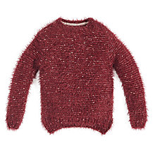 Buy Angel & Rocket Girls' Eyelash Jumper, Plum Online at johnlewis.com