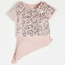 Buy Angel & Rocket Girls' Asymmetric Top, Pink Online at johnlewis.com
