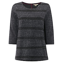 Buy White Stuff Holly Emb Jersey Top, Wilding Grey Online at johnlewis.com