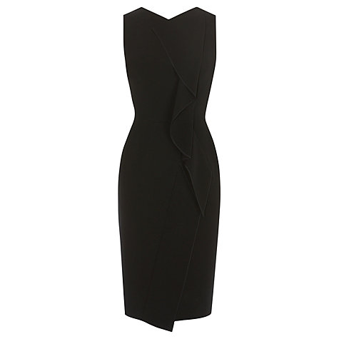 Buy Karen Millen Minimal Crepe Dress, Black Online at johnlewis.com