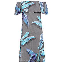 Buy Warehouse Palm Print Bardot Dress, Multi Online at johnlewis.com