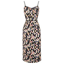 Buy Warehouse Diamond Ikat Dress, Pink Pattern Online at johnlewis.com