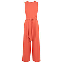 Buy Warehouse Open Back Jumpsuit, Coral Online at johnlewis.com