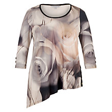 Buy Chesca Misty Rose Asymmetric Tunic Top, Grey/Nude Online at johnlewis.com
