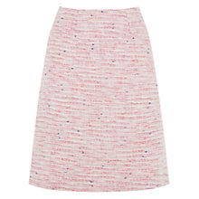 Buy Warehouse Tweed Pelmet Skirt, Cream Online at johnlewis.com