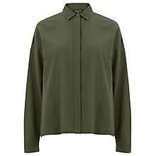 Buy Warehouse Drawstring Shirt, Khaki Online at johnlewis.com