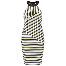 Buy Miss Selfridge Stripe Bodycon Dress, Multi Online at johnlewis.com
