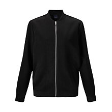 Buy Miss Selfridge Satin Bomber, Black Online at johnlewis.com