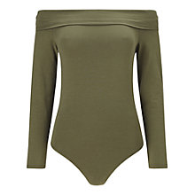 Buy Miss Selfridge Long Sleeve Bardot Body Online at johnlewis.com