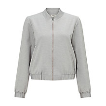 Buy Miss Selfridge Ponte Bomber Jacket, Mid Grey Online at johnlewis.com