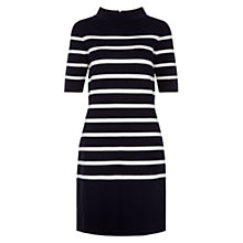 Buy Hobbs Janie Stripe Dress, Navy/Ivory Online at johnlewis.com