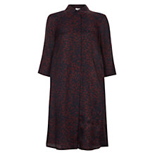 Buy Hobbs Petal Tunic, Beetroot/Navy Online at johnlewis.com