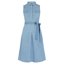 Buy Oasis High Neck Dress, Denim Online at johnlewis.com