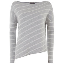 Buy Mint Velvet Stripe Asymmetric Box Knit, Stripe Online at johnlewis.com