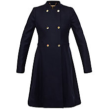 Buy Ted Baker Indego Double Breasted Coat, Navy Online at johnlewis.com
