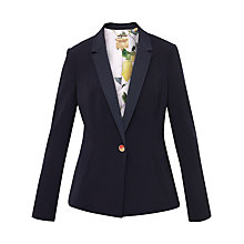 Buy Ted Baker Zizig Ottoman Single Button Blazer, Navy Online at johnlewis.com