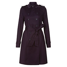 Buy Hobbs Saskia Trench Coat, Hollyhock Purple Online at johnlewis.com