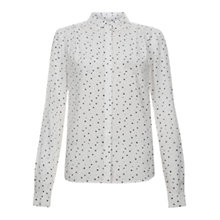 Buy Hobbs Maura Shirt, Ivory/Grey Online at johnlewis.com