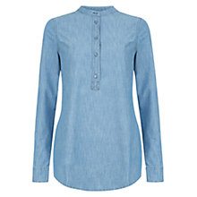 Buy Hobbs Sahara Shirt, Blue Online at johnlewis.com