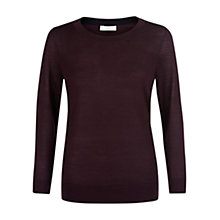 Buy Hobbs Penny Jumper, Burgundy Online at johnlewis.com