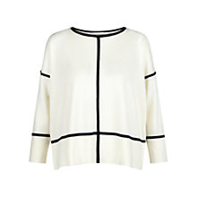 Buy Hobbs Roma Graphic Jumper, Ivory/Black Online at johnlewis.com