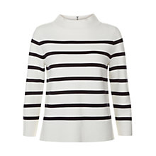 Buy Hobbs Janie Stripe Sweater, Ivory Navy Online at johnlewis.com