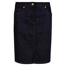 Buy Hobbs Cicely Denim Skirt, Indigo Online at johnlewis.com