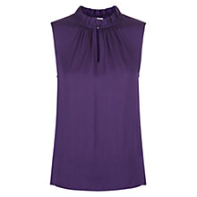 Buy Hobbs Rubis Blouse, Bright Violet Online at johnlewis.com