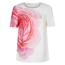 Buy Hobbs Christiana Top, Ivory Online at johnlewis.com
