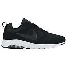 Buy Nike Air Max Motion Men's Trainers, Black/Anthracite/White Online at johnlewis.com