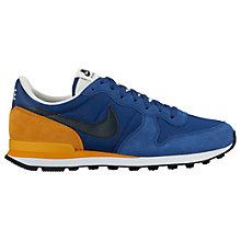 Buy Nike Internationalist Men's Trainers, Coastal Blue/Dark Obsidian/Gold Leaf Online at johnlewis.com