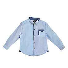 Buy Angel & Rocket Boys' Rupert Mixed Stripe Shirt, Blue Online at johnlewis.com