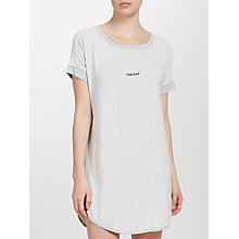 Buy DKNY Stripe Night Shirt, Grey/White Online at johnlewis.com