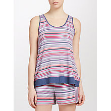 Buy DKNY Stripe Tank Top And Short Pyjama Set, Pink/Birch Online at johnlewis.com