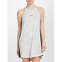 Buy DKNY Animal Print Chemise, Grey/White Online at johnlewis.com