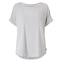 Buy DKNY Stripe Short Sleeve Pyjama Top, Grey/White Online at johnlewis.com