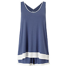 Buy DKNY Tank Top and Shorts Pyjama Set, Dark Blue Online at johnlewis.com