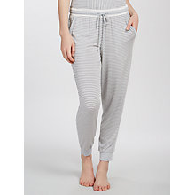 Buy DKNY Stripe Cuffed Pyjama Bottoms, Grey Online at johnlewis.com