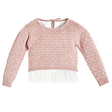 Buy Angel & Rocket Girls' Mock Layered Jumper Blouse, Pink Online at johnlewis.com